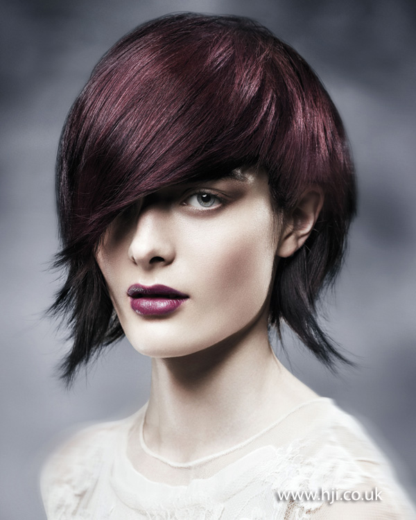 2012 rich brunette textured short womens hairstyle