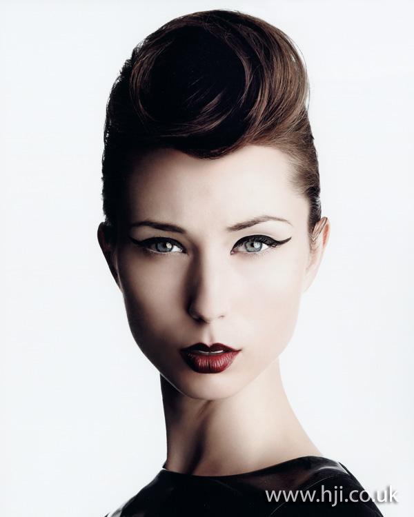 2012 rolled front quiff womens hairstyle