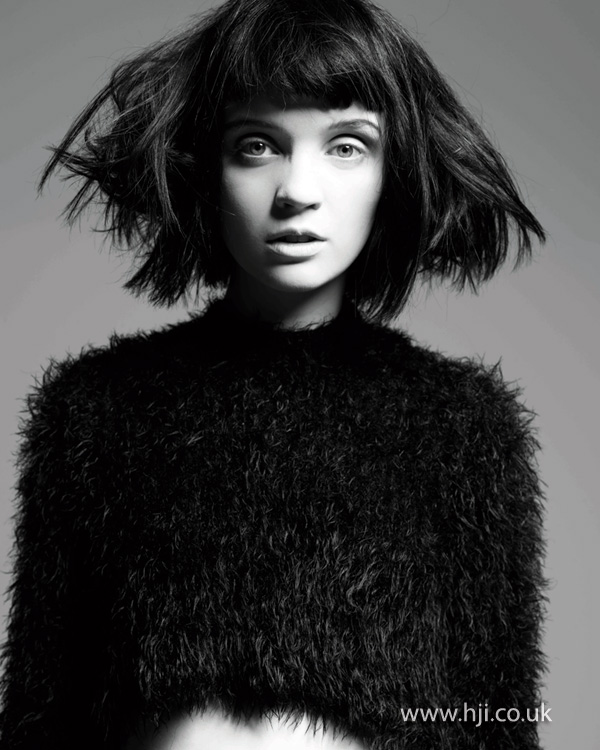 2012 roughed up womens bob hairstyle