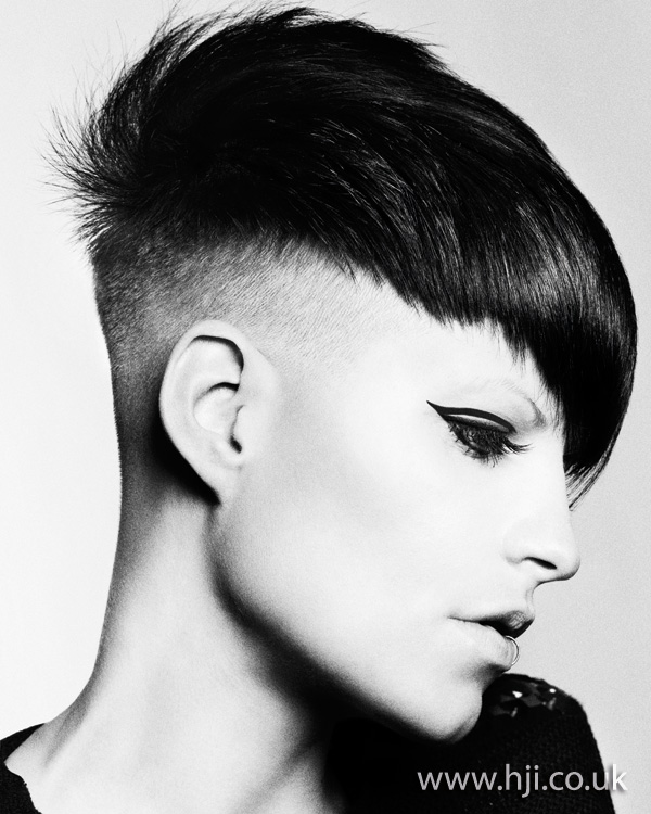 2012 shaved sides womens hairstyle