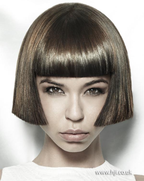 2012 shiny brunette bob hair