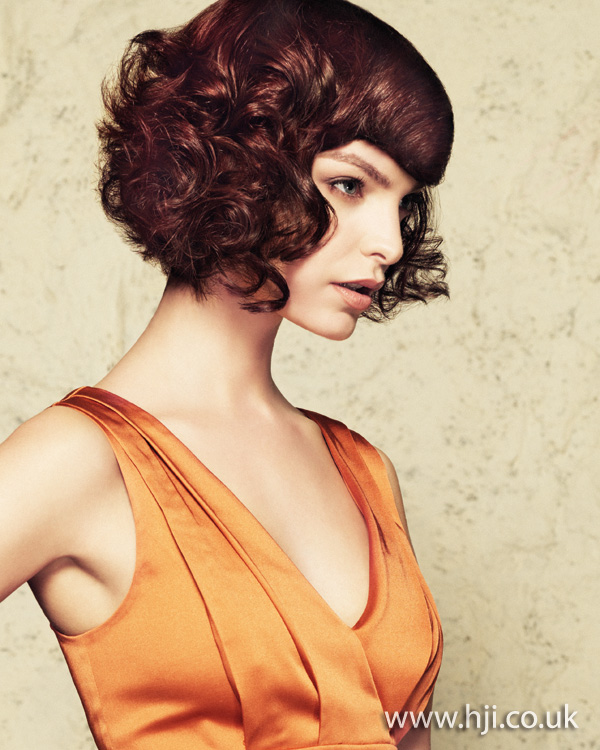 2012 short brunette curly womens hairstyle