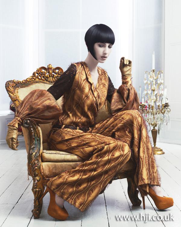2012 short dark fringe womens hairstyle