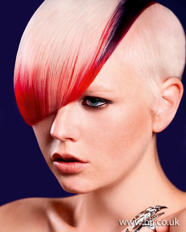2012 short pink hair shaved sides