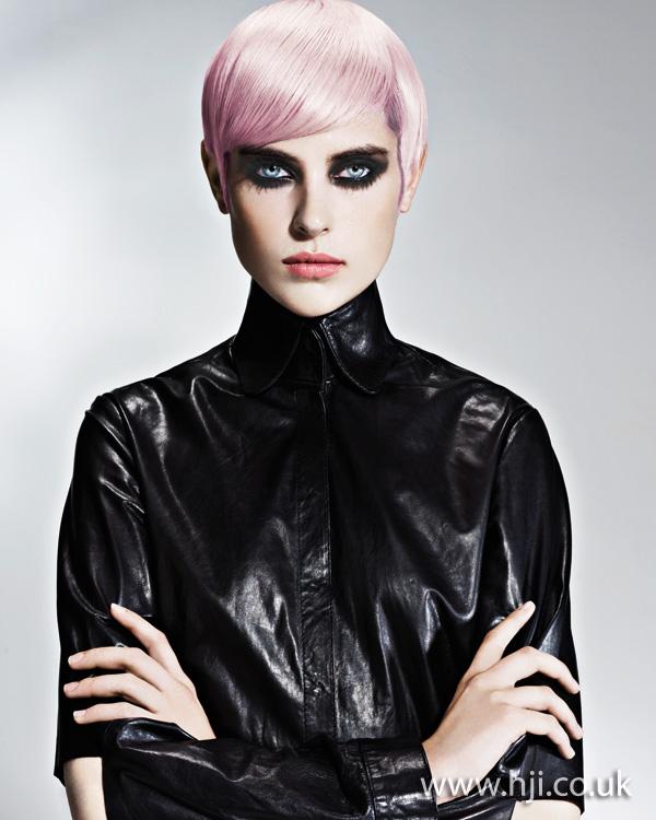 2012 short psastel pink womens hairstyle