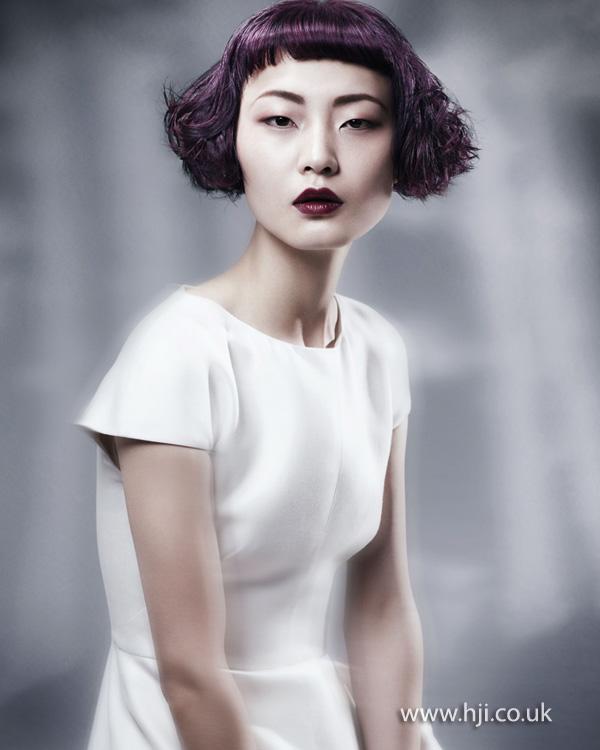 2012 short purple bob womens hairstyle