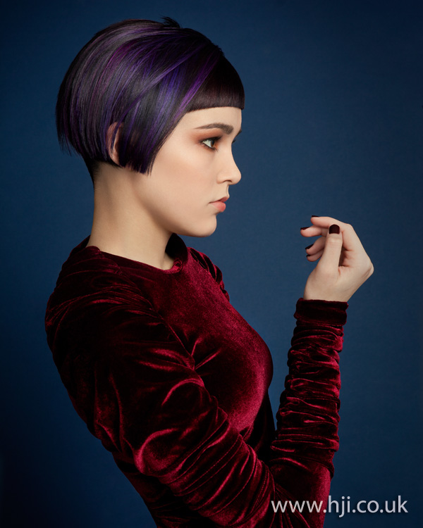2012 short purple womens hairstyle