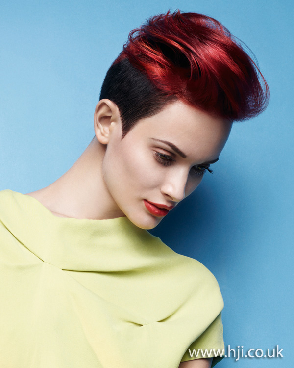 2012 short red quiff womens hairstyle