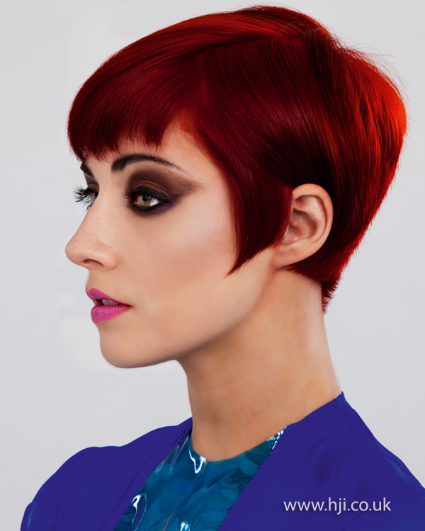 2012 short red womens hairstyle