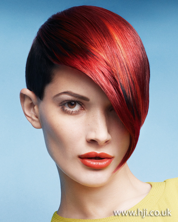 2012 short red womens hairstyle2