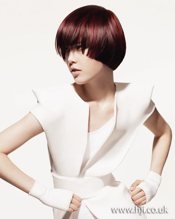 2012 short womens hairstyle brunette fringe
