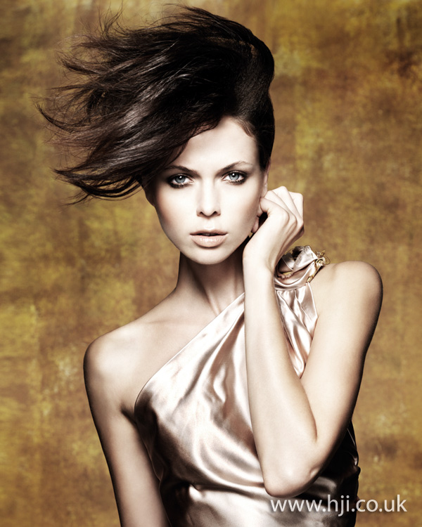 2012 side flicked womens updo hairstyle