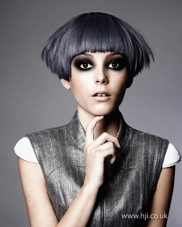 2012 slate grey fringe short womens hairstyle