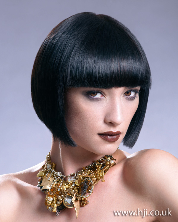 2012 sleek black bob hairstyle