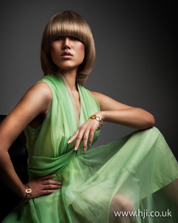2012 sleek rolled bob womens hairstyle