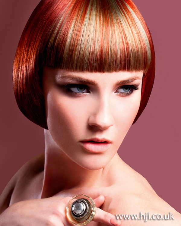 2012 straight blunt fringe womens hairstyle