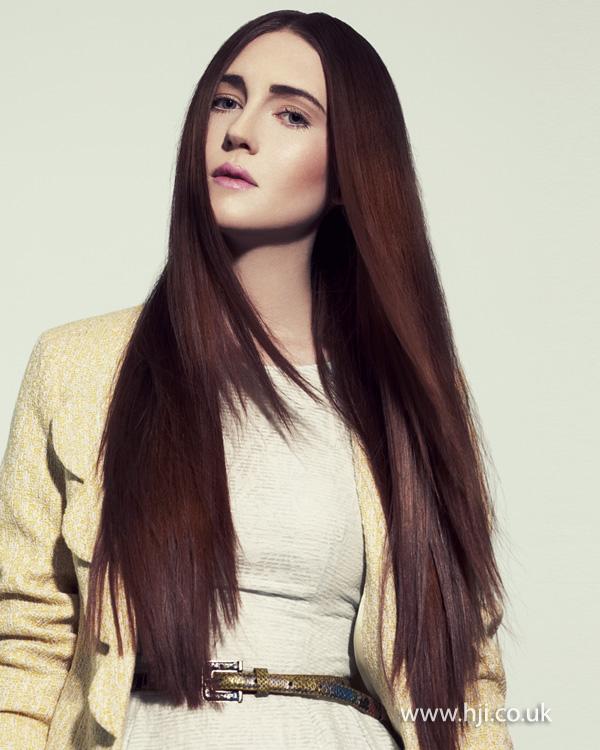 2012 straight sleek womens red brunette womens hairstyle