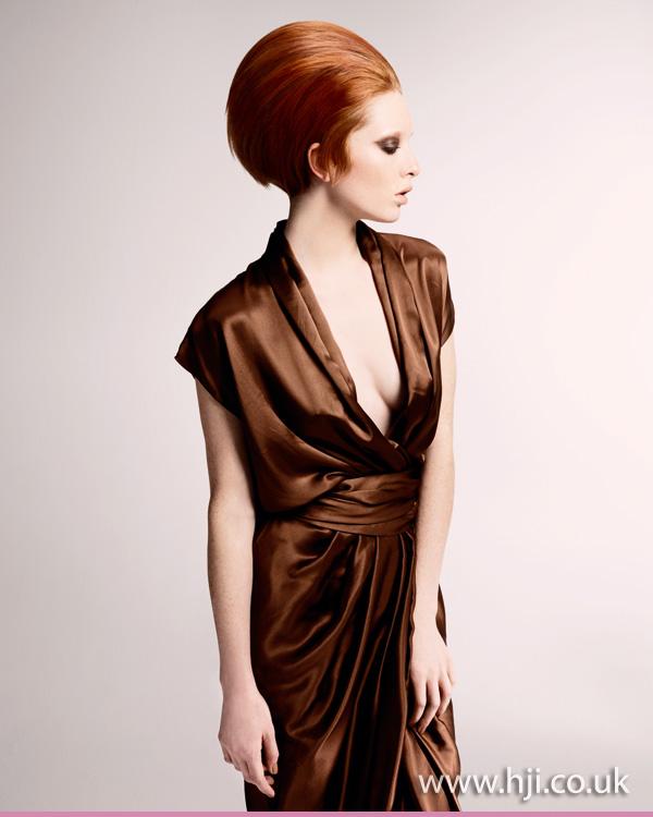 2012 swept back redhead womens updo