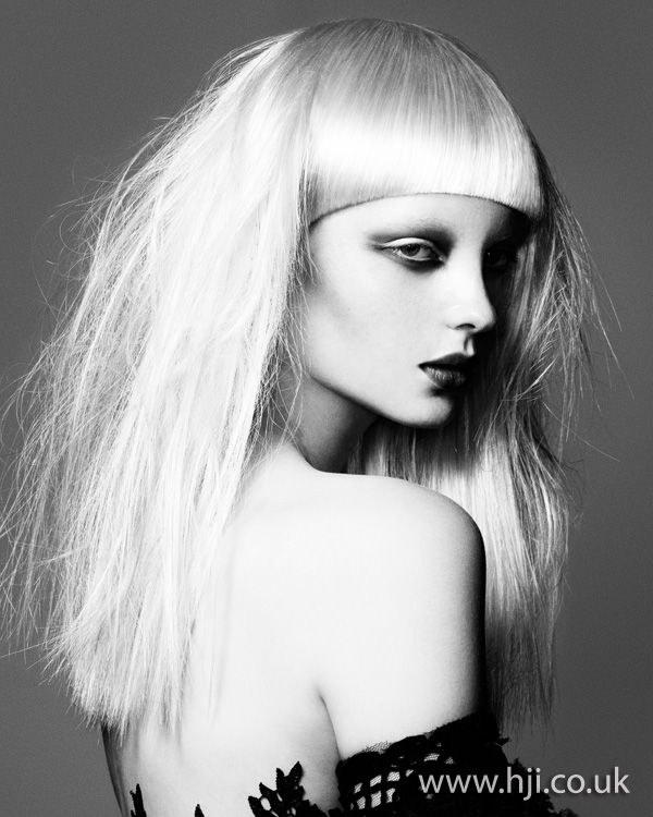 2012 textured blonde long womens hairstyle