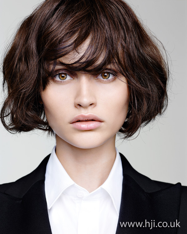 2012 textured brunette womens bob