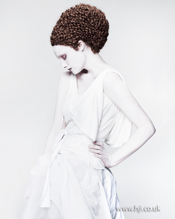 2012 textured updo avant garde womens hairstyle