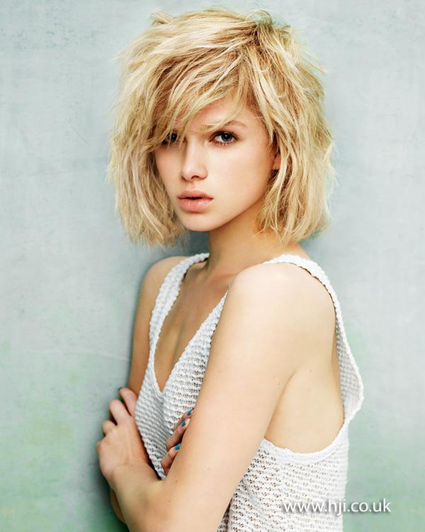 2012 Tousled Blonde Bob Hair Hairstyle