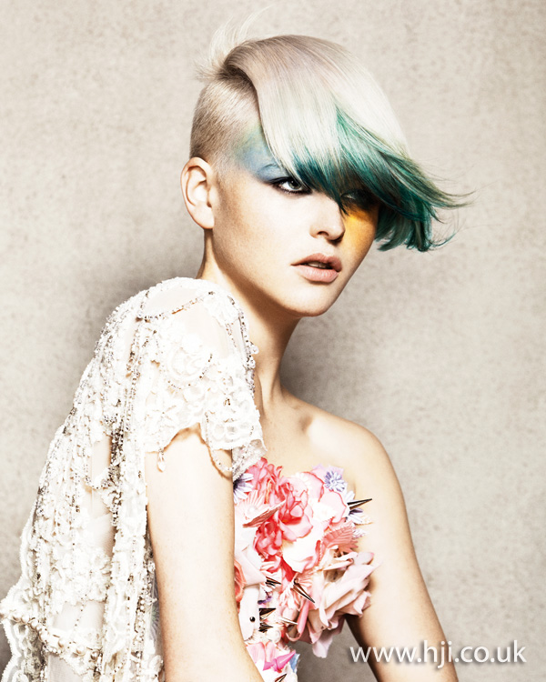 2012 two tone short womens hairstyle