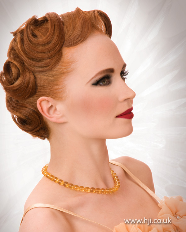 2012 vintage style updo womens hairstyle