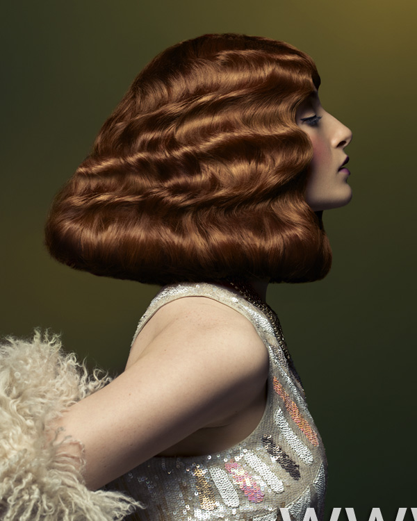 2012 vintage wave red womens hairstyle