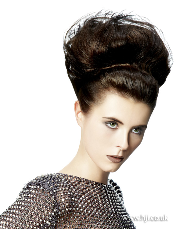 2012 volume hair up brunette womens hairstyle