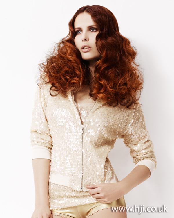 2012 voluminous curls womens hairstyle