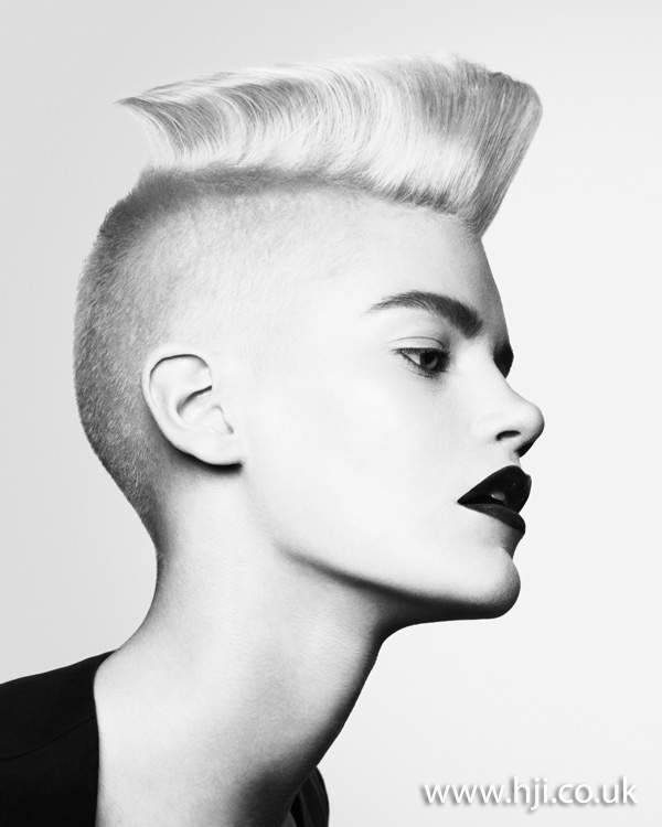 2012 womens blunt quiff hairstyle
