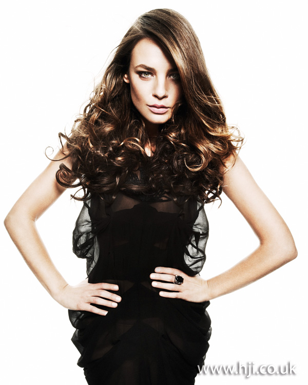2012 womens curly brunette hairstyle