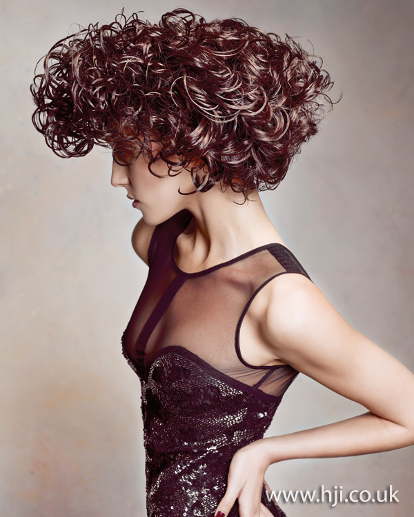 2012 womens hairstyle brunette curls