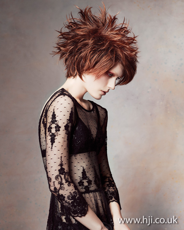 2012 womens hairstyle brunette spiked