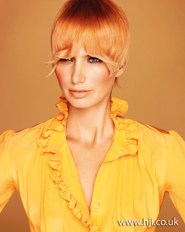 2012 womens hairstyle flicked fringe