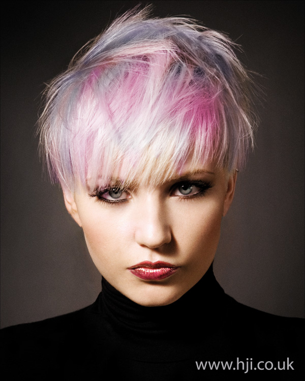 2012 womens hairstyle pink lilac