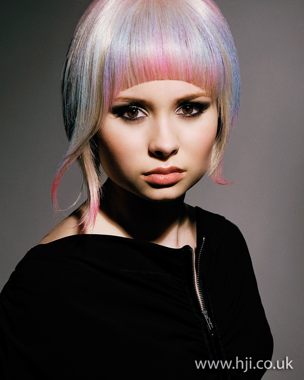2012 womens hairstyle rainbow pastels