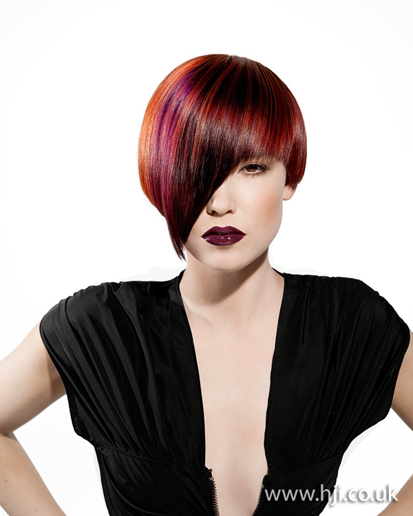 2012 womens hairstyle red with fringe