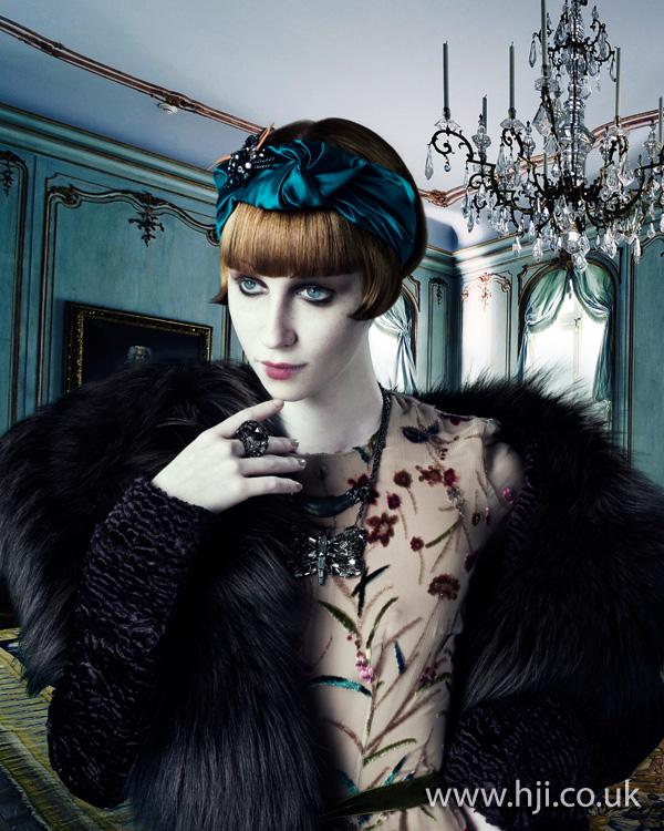 2012 womens hairstyle satin hairband
