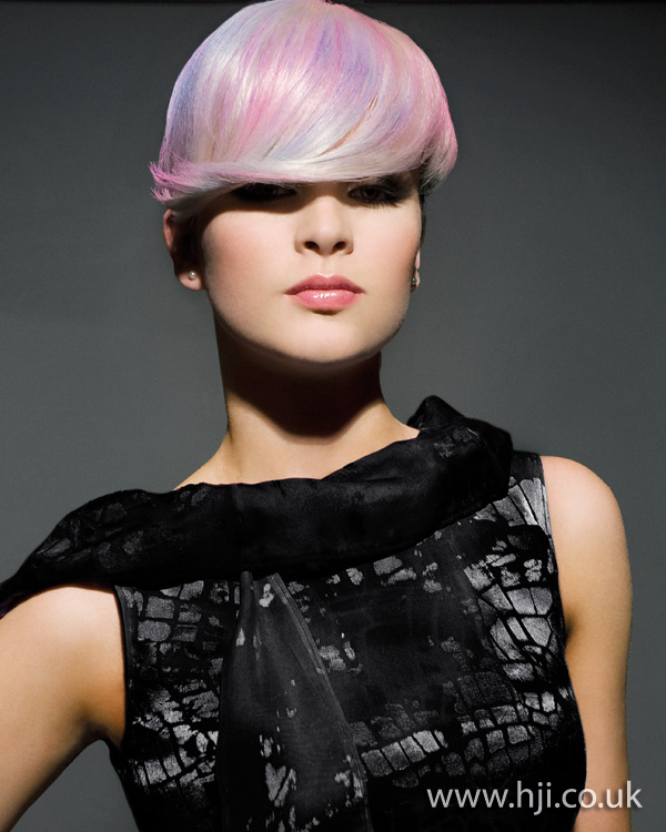 2012 womens hairstyle short pastels