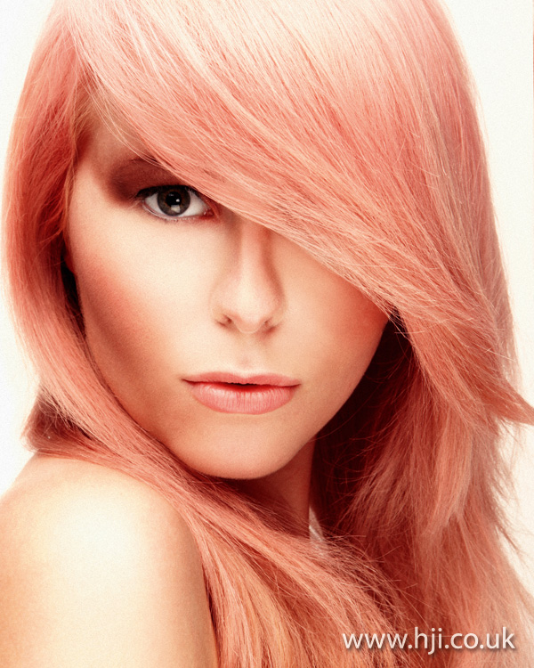 2012 womens pastel pink hair colour