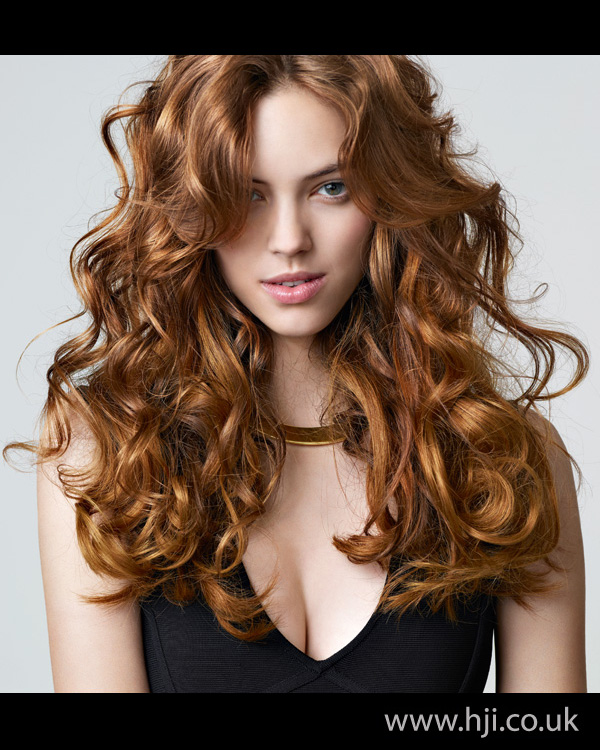 2012 womens red curly hairstyle