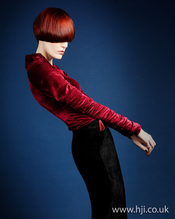 2012 womens straight red short hairstyle