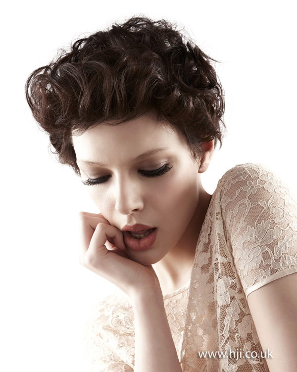 2012 womens tousled brunette hairstyle