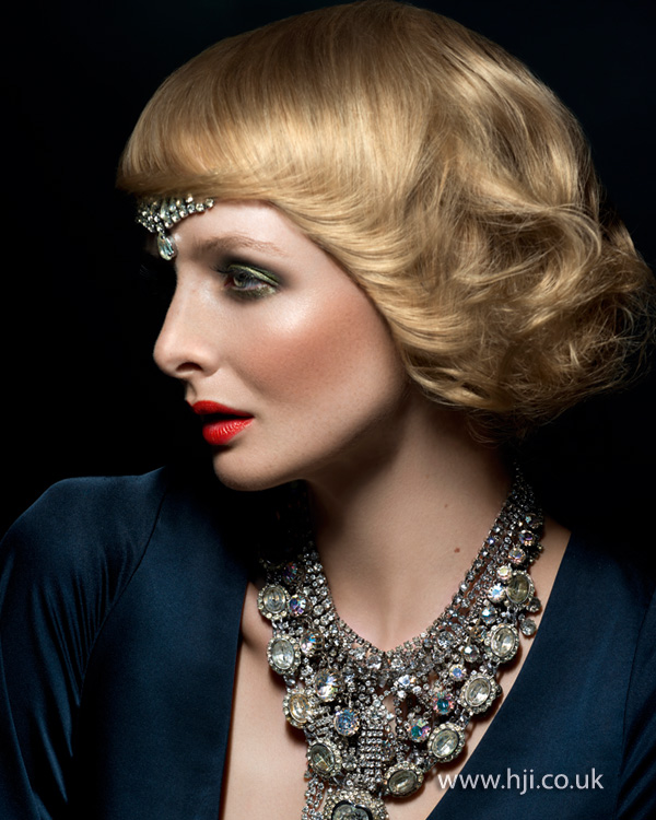 2012 womens vintage style hair up with accessory