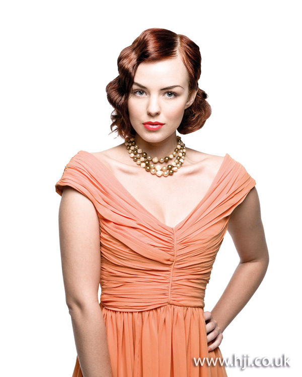 2012 womens wavy vintage hairstyle
