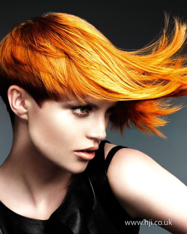 2012 yellow orange womens hairstyle