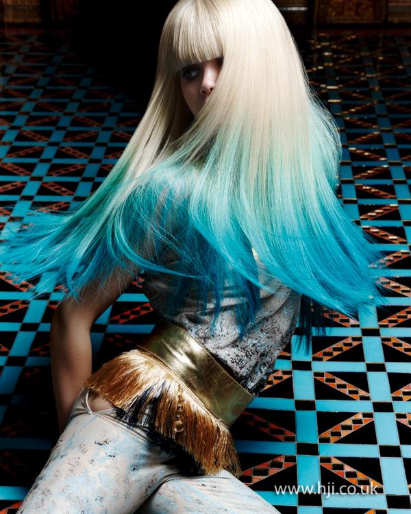 2013 blue dip dye hair