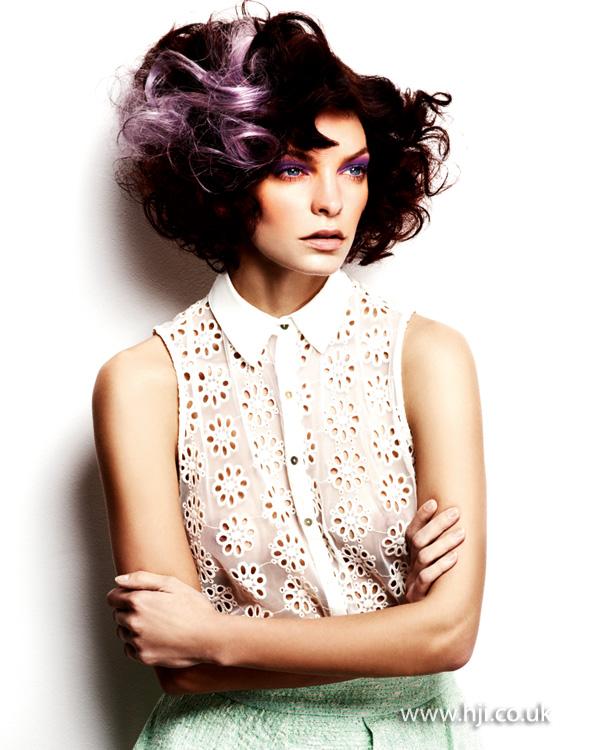 2013 lilac streaks hair